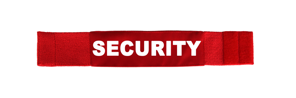 Armbinde Security rot